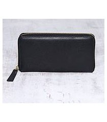 leather wallet, 'collected in black' (india)