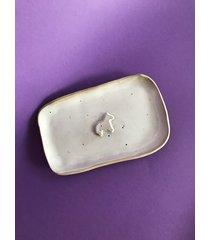talerz ceramiczny koń biały