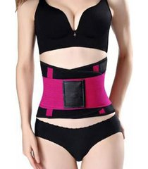 abdomen fitness cinturón elástico de goma correa de soporte corporal p