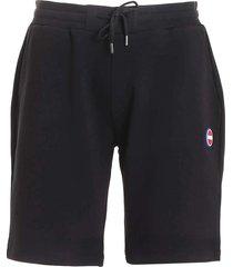 bermuda shorts met logo patch