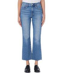 women's trave colette high waist crop flare jeans