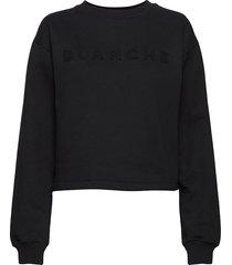 alba sweater sweat-shirt tröja svart blanche