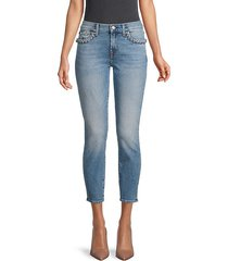 braided pocket super-skinny cropped jeans