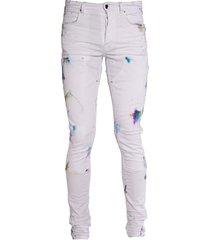 painter workman skinny jeans white