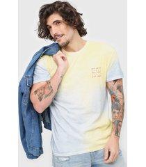 camiseta jack & jones asheley tie dye amarela/azul