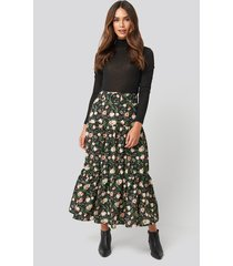 na-kd belted floral midi skirt - multicolor