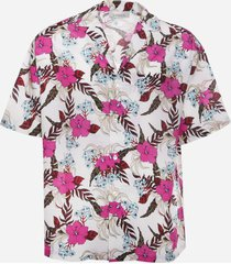laneus bowling shirt with all-over print
