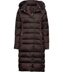 jacket down gevoerde lange jas bruin betty barclay