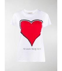 alexander mcqueen heart-print t-shirt