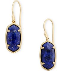 kendra scott 18k gold vermeil blue lapis drop earrings (also in mother-of-pearl & turquoise)