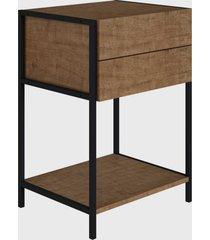mesa de cabeceira vermont/est. preta industrial artesano - bege - dafiti