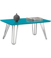mesa de centro siena pé prata c&m decor