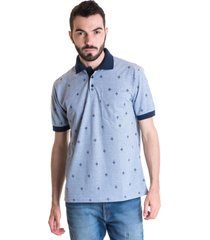 camisa polo masculina manga curta 33603 azul claro