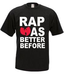 wu tang clan was better before rap hip hop music band men's t-shirt