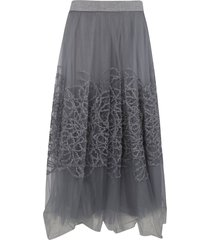 fabiana filippi embellished lace skirt