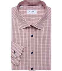 contemporary-fit glen check dress shirt