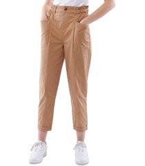 vanilla star juniors' cotton paperbag-waist pants