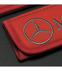 mercedes benz accessories interior leather seat belt cover pad emblem embroidery