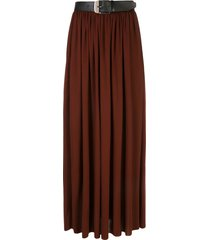 proenza schouler belted pleated skirt - brown