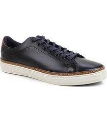 sapatênis couro shoestock liso masculino - masculino