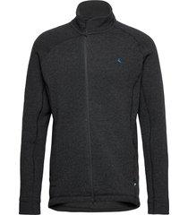 balder zip m's sweat-shirts & hoodies fleeces & midlayers svart klättermusen