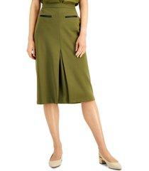 alfani pull-on knee-length pleated pencil skirt, created for macy's