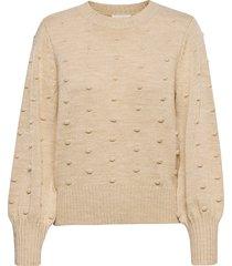 objbouble l/s knit pullover noos stickad tröja beige object