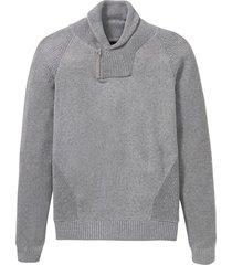 maglione con collo a scialle e cotone riciclato (grigio) - rainbow