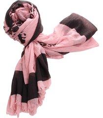 lenço real arte estampa leopardo rosa