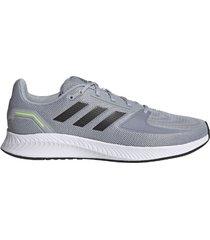 zapatilla gris adidas runfalcon 2.0