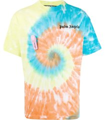 multicolored tie-dye t-shirt
