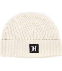 tommy hilfiger lewis hamilton white ribbed blend cotton hat