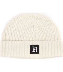 tommy hilfiger lewis hamilton white ribbed blend cotton hat