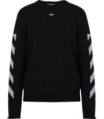 off-white intarsia sweater
