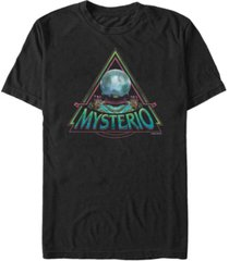 marvel men's spider-man far from home mysterio triangle logo, short sleeve t-shirt