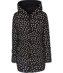 dolce & gabbana dotted all-over print hooded parka