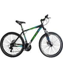 bicicletas todo terreno gw alligator  rin 29 shimano 7v tipo moto suspe disco negro verde azul