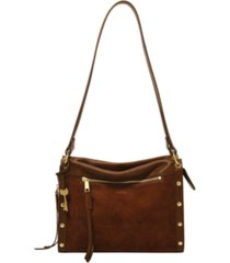 fossil women's allie leather satchel