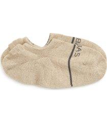 men's bombas no-show wool blend socks, size large - beige