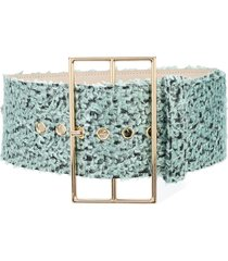 cult gaia wide woven belt - blue