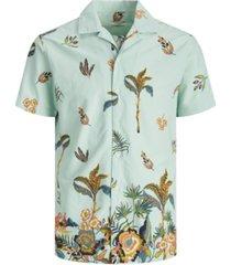 jack & jones men's all over printed resort short sleeve shirt