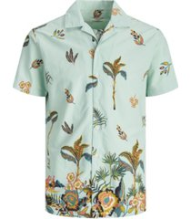 jack & jones men's all over printed resort short sleeve shirt