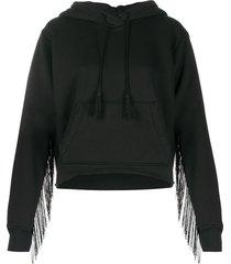 amiri tassel detailed hoodie - black