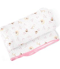 cobertor papi fadinha branco - branco/rosa - menina - dafiti