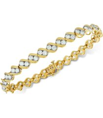 diamond two-stone link bracelet (6 ct. t.w.) in 14k gold