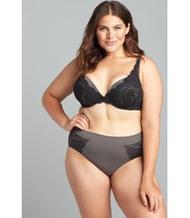 lane bryant women's level 1 smoother hipster panty 14/16 eiffel tower lace