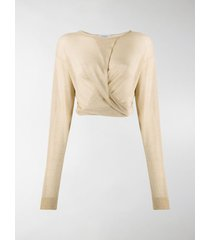 lemaire long sleeve draped front top