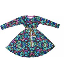 vestido multicolor cante pido mariposas