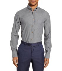 men's eton flanella slim fit solid dress shirt