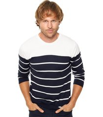 sweater azul crow tricolor